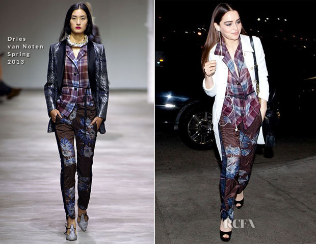 Emilia Clarke In Dries van Noten - LAX