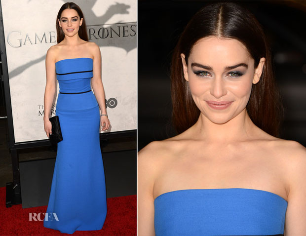 Emilia Clarke In Victoria Beckham - 'Game of Thrones' LA Premiere