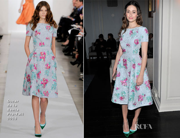 Emmy Rossum In Oscar de la Renta - 'Oz The Great and Powerful' New York Screening