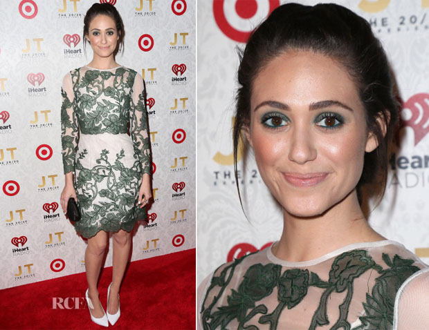 Emmy Rossum In Topshop - iHeartRadio '20 20' Album Release Party With Justin Timberlake