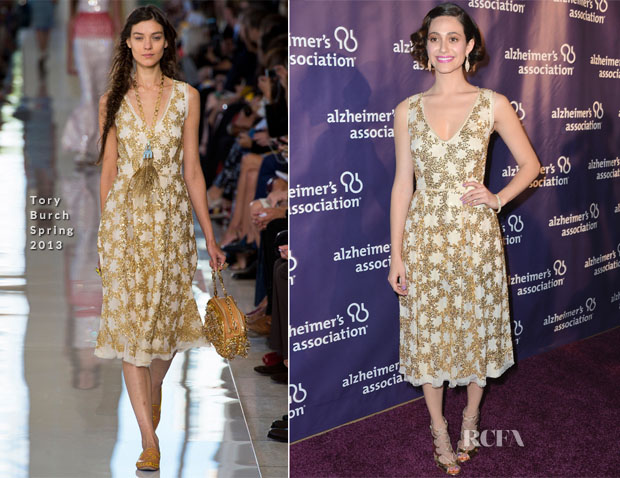 Emmy Rossum In Tory Burch S13 - 21st Annual 'A Night At Sardi's' Gala