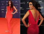 Eva Longoria In John Galliano - 2013 Laureus World Sports Awards