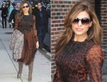 Eva Mendes In Dolce & Gabbana - Late Show with David Letterman