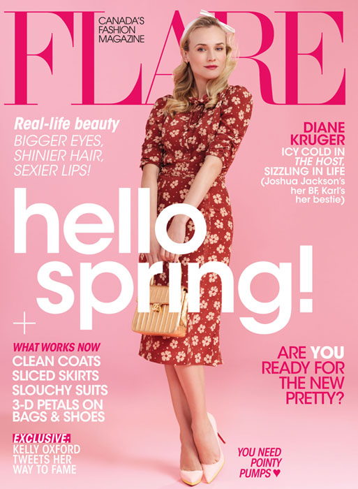 Diane Kruger for Flare April 2013