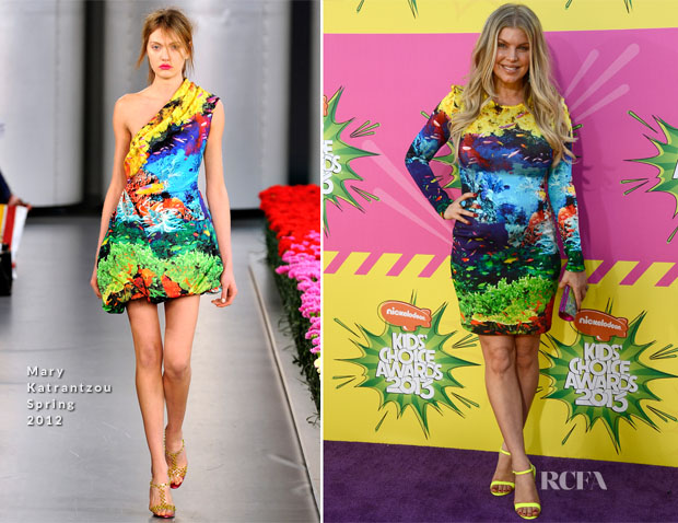 Fergie In Mary Katrantzou - 2013 Nickelodeon Kids' Choice Awards