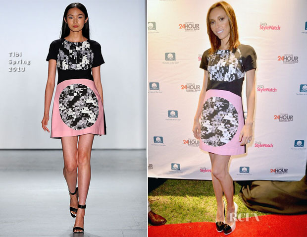 Giuliana Rancic In Tibi - Cotton's 24 Hour Runway Show