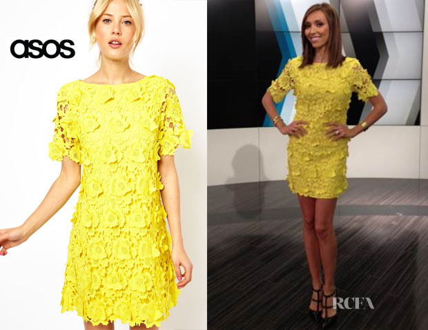 Giuliana Rancic's ASOS 3D Flower Lace Shift Dress