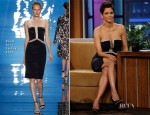 Halle Berry In Reem Acra - The Tonight Show with Jay Leno