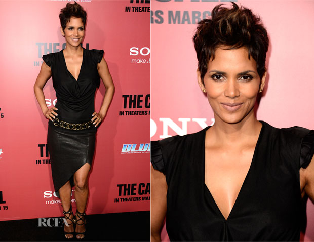 Halle Berry in Helmut Lang - The Call LA Premiere