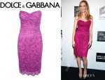 Heather Graham's Dolce & Gabbana Strapless Dress