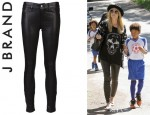 Heidi Klum's J Brand Leather Legging Jeans