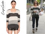 Hilary Duff's Enza Costa Loose Stripe Sweater
