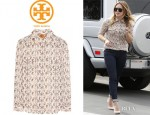 Hilary Duff's Tory Burch 'Evelin' Shirt