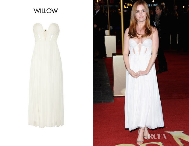 Isla Fisher's In Willow Silk and Tulle Gown