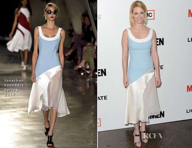 January Jones In Jonathan Saunders SS13 - 'Mad Men' Season 6 Premiere