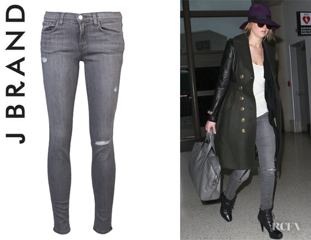 Jennifer Lawrence's J Brand 811 Skinny Leg 'Kingdom Destruct' Jeans