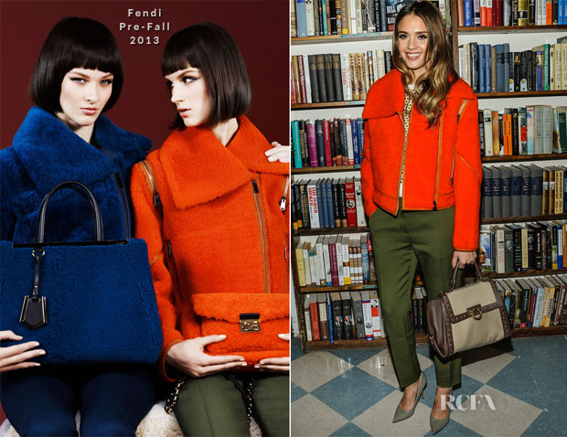Jessica Alba In Fendi - Long Island Book Store Signing