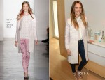 Jessica Alba In Peter Som - 'The Honest Life' Mondrian Hotel Book Promotion