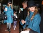 Jessica Alba In Sportmax - Charles de Gaulle Airport