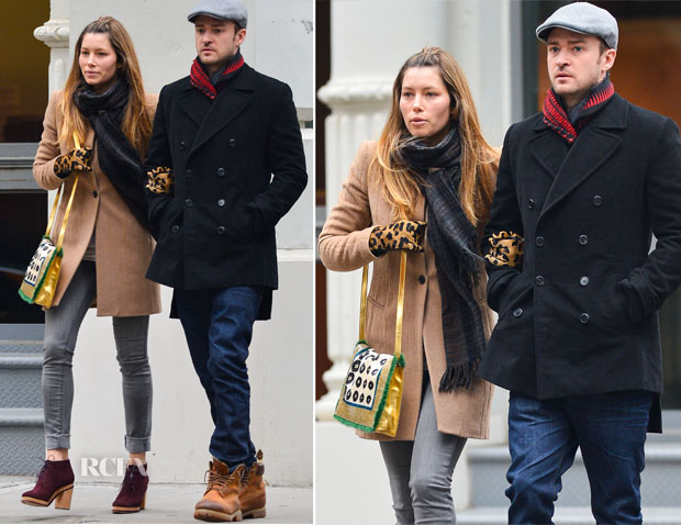 Jessica Biel In All Saints - Out In New York