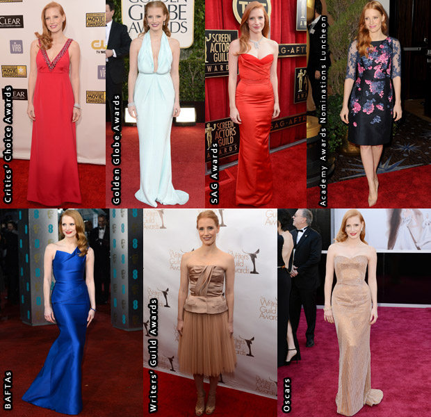 Jessica Chastain Awards Season