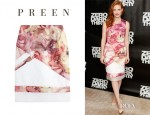 Jessica Chastain's Preen 'Odette' Printed Skirt