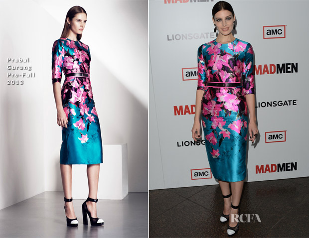 Jessica Paré In Prabal Gurung - 'Mad Men' Season 6 Premiere
