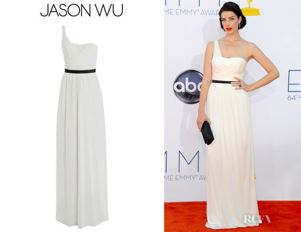 Jessica Pare's Jason Wu One Shoulder Jersey Gown
