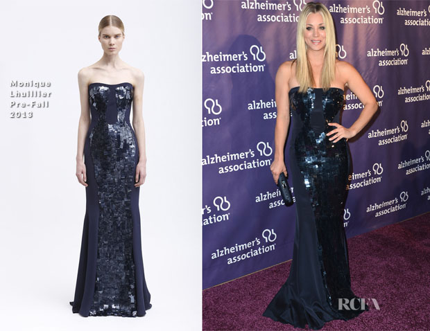 Kaley Cuoco In Monique Lhuillier PF 13- 21st Annual 'A Night At Sardi's' Gala