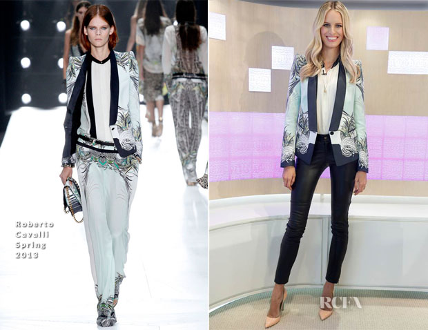 Karolina Kurkova In Roberto Cavalli - The Today Show