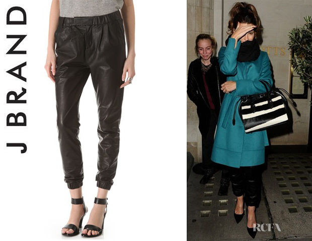 Kate Beckinsale J Brand 'Blair' Leather Pants