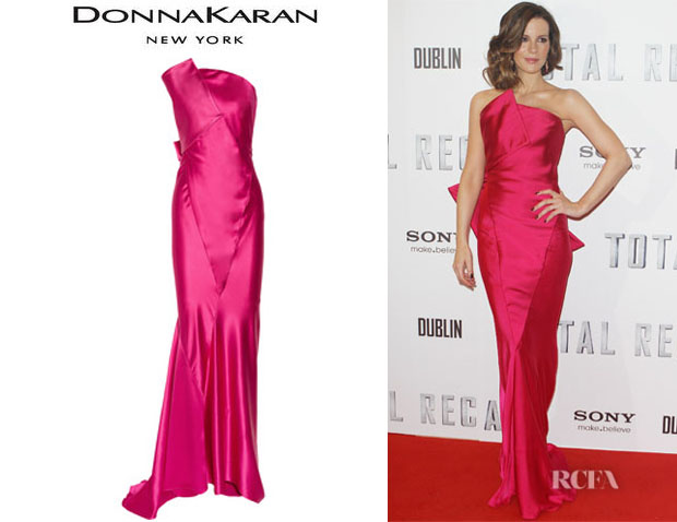 Kate Beckinsale's Donna Karan Strapless Duchess Satin Gown