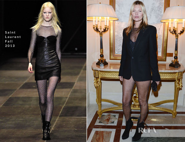 Kate Moss In Saint Laurent - 'CR Fashion Book Issue 2′ Cocktail Party