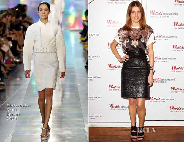 Kate Waterhouse In Givenchy & Christopher Kane - Westfield Autumn Winter 2013 Launch