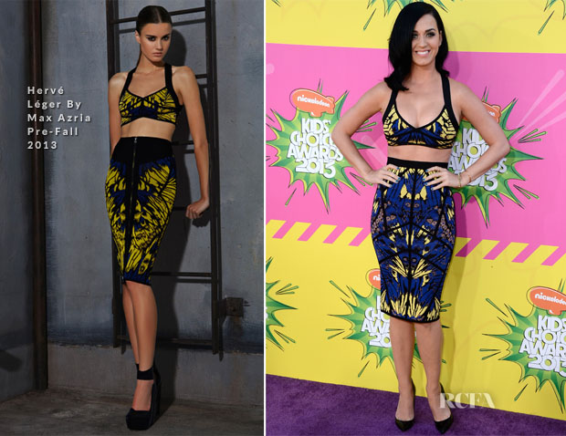 Katy Perry In Hervé Léger By Max Azria - 2013 Nickelodeon Kids' Choice Awards