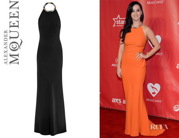 Katy Perry's Alexander McQueen Halter Neck Dress