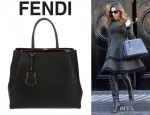Kelly Brook's Fendi '2Jours Elite' Leather Shopper