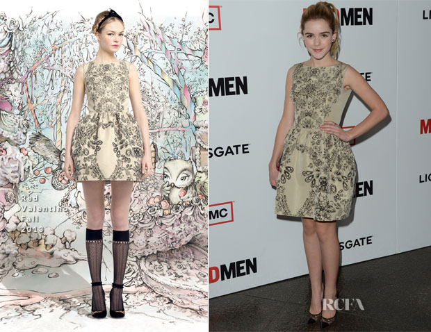 Kiernan Shipka In Red Valentino - 'Mad Men' Season 6 Premiere