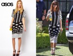 Kourtney Kardashian's ASOS Monoclash Print T-Shirt Dress