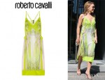 Kylie Minogue's Roberto Cavalli Printed Silk-Chiffon Dress