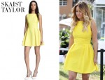 Lauren Conrad's Skaist Taylor 'Pamela' Pleated Poplin Dress