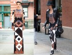 Lily Aldridge In Givenchy - Out In New York City