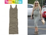 Malin Akerman's Tees by Tina Micro Stripe Maxi Dress
