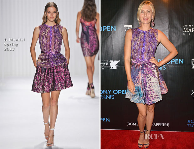 Maria Sharapova In J Mendel - 2013 Sony Open Player Party