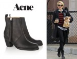 Michelle Williams' Acne 'Pistol' Ankle Boots