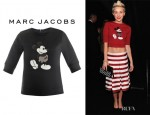 Miley Cyrus' Marc Jacobs Mickey Fitted Sweatshirt