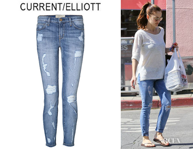 Minka Kelly's CurrentElliott 'The Slouchy' Stiletto Jeans