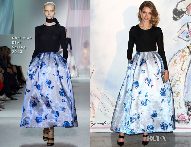Natalia Vodianova In Christian Dior - Bal de la Rose du Rocher