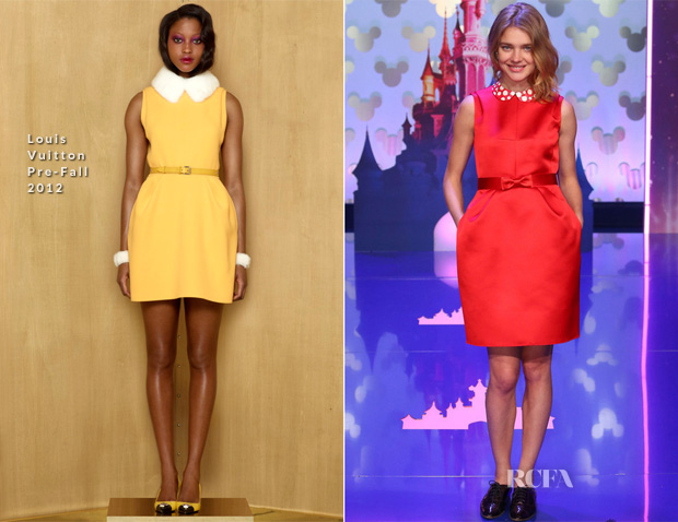 Natalia Vodianova In Louis Vuitton & Minnie Mouse In Lanvin - Disneyland Paris 20th Anniversary Celebration