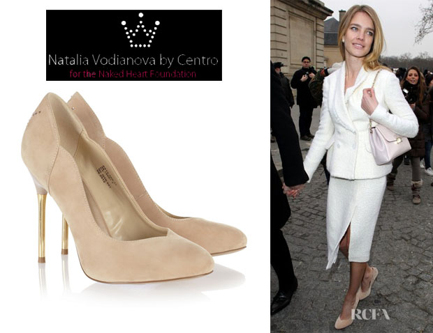 Natalia Vodianova's Natalia Vodianova By Centro For The Naked Heart Foundation Crystal Crown Embellished Pumps